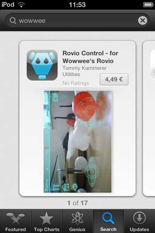 Rovio Control for iPhone
