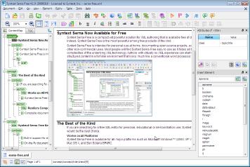 Syntext Serna Free : Open Source XML Editor | Internet with a Brain