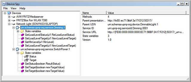UPnP Device Spy Tool