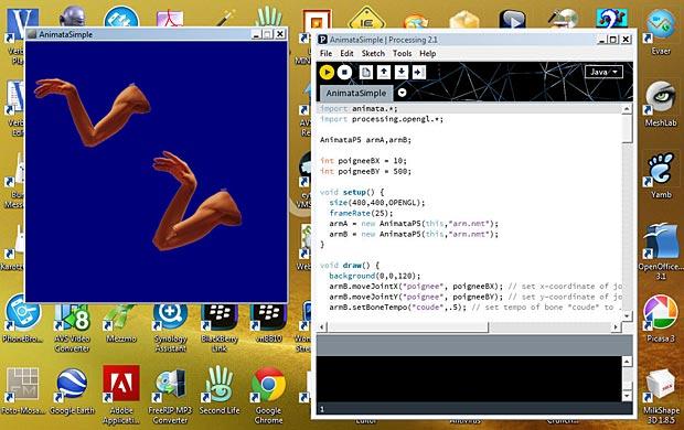 Animata Processing 2.1 sketch