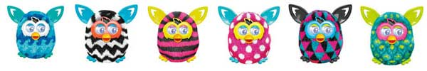 Furby Boom : Blue Waves, Zigzag, Stripes, Polka Dots, Triangles, Peacock