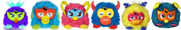 Furby Party Rockers : Fuusby, Twittby, Lovely, Scoffby, Wittby, Nerdby