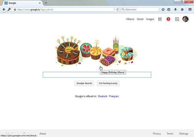 Google Doodle : Happy Birthday Marco
