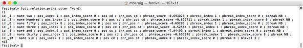 Festival Word List