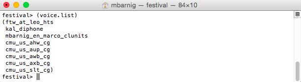 Festival : voice.list