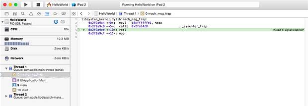 Xcode IDE Debugger