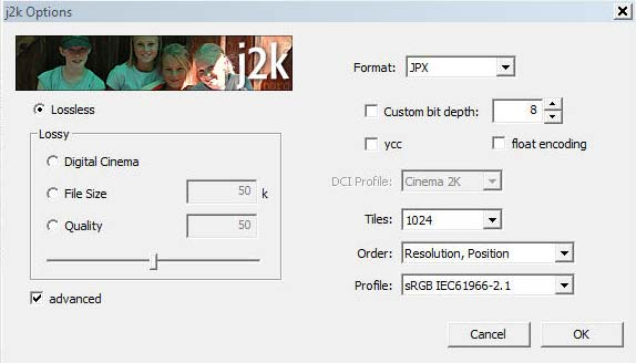 JPEG 2000 plugin