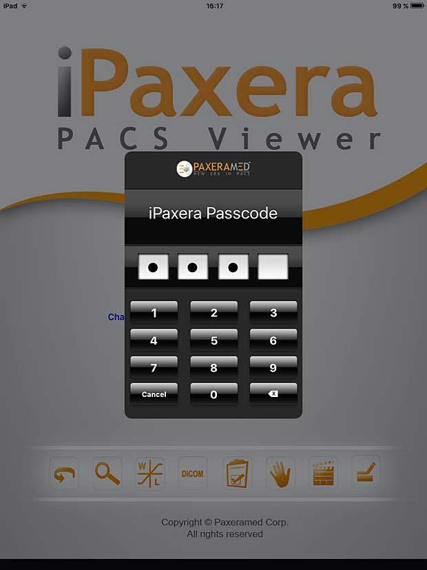 iPaxera login panel
