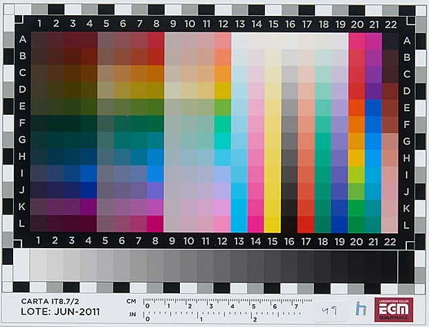 IT8 color chart