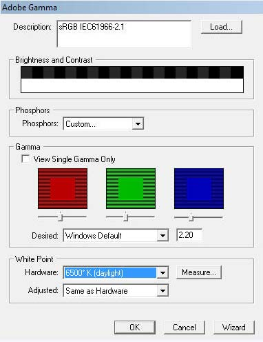 Display Calibration Tool Adobe_gamma