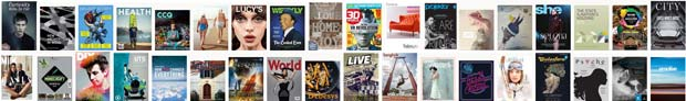 Magazines on the electronic publishing platform Issuu