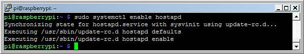 Enable autostart of hostapd at booting