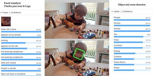le systme reconnat des personnes des jouets une chaise et un coussin dans un dcor de maison il confond toutefois des jouets avec de la nourriture