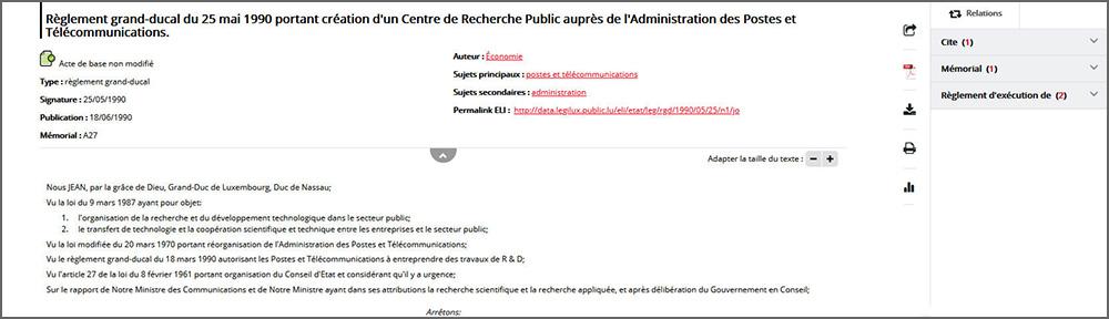 Centre de Recherche Public P&T